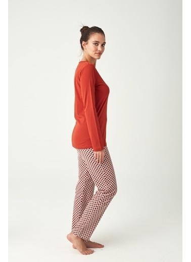 U.S. Polo Assn. Kadın Pijama Takımı Kiremit